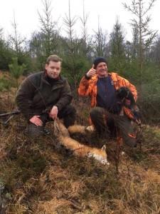 Gamla Udda spränger räv